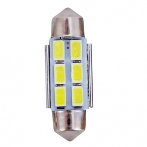 Navette 36mm LED Nav6 5730 - Anti Erreur OBD - C5W - Blanc Pur