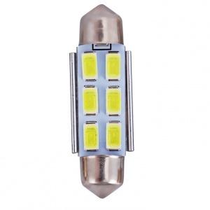 Navette 39mm LED Nav6 5730 - Anti Erreur OBD - C7W - Blanc Pur