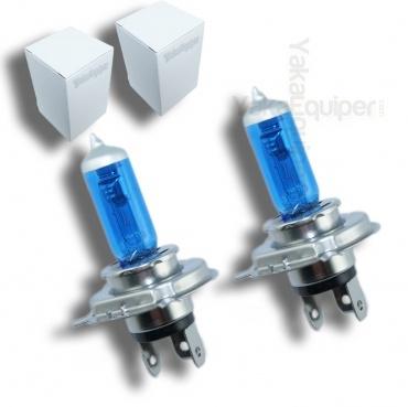 3+1 GRATUIT Pack 2 Ampoules H4 Effet Xenon - Super White 5000K
