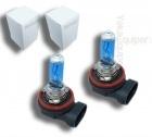 Pack 2 Ampoules H8 Effet Xenon - Super White 5000K