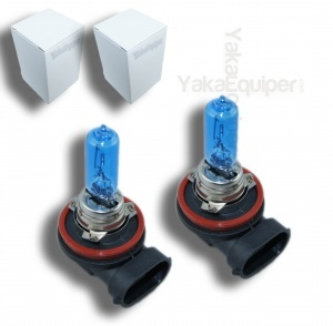 Pack 2 Ampoules H9 Effet Xenon - Super White 5000K