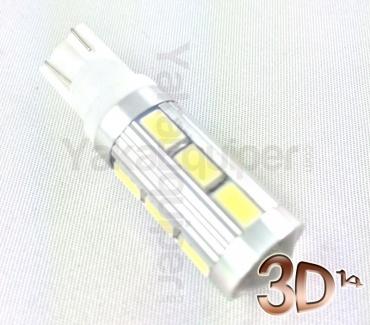 Ampoule T10 LED 3D<sup>14</sup> SMD - Anti Erreur OBD - W5W - Blanc Pur