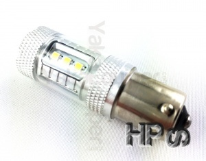 Ampoule HPS LED S25 R5W 1156 BA15S P21W - Blanche