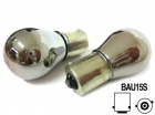 2 ampoules PY21W BAU15S S25 clignotant Chrome - orange