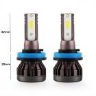 2 Ampoules LED H1 ultraMini 10000lumens 6000K - Blanc Pur