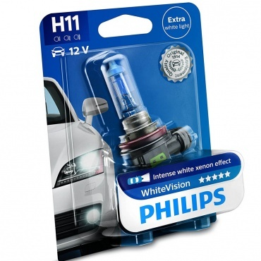 1 ampoule H11 Philips White Vision 12362WHVB1 4300K