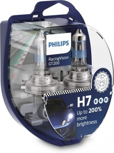 2 ampoules Philips H7 RacingVision GT200 12972RGTS2