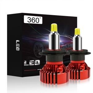 2 Ampoules LED H7 360° mini ventilées 13000lumens 6200K - Blanc