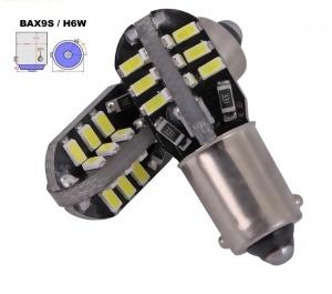 Ampoule H6W 36 LED 3D 3014 - Anti Erreur OBD - Culot BA9XS - Blanc Pur