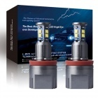 Pack Ampoules LED 80Watts anneaux H8 LUXE V5 angel eyes BMW E63 à E93 X1 X5 X6 - Blanc