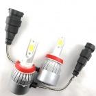 2 Ampoules LED H8 HEADxtrem C6 7600lumens 72W - Blanc Pur