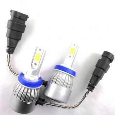 2 Ampoules LED H9 HEADxtrem C6 7600lumens 72W - Blanc Pur