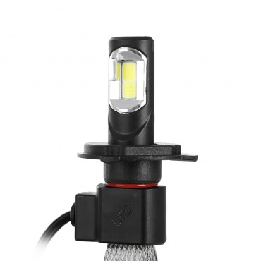 1 Ampoule LED phares H7 8000lm 72W Canbus tresse - Blanc