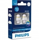Pack 2 Ampoules T10 Philips X-treme Ultinon LED 4000K - W5W