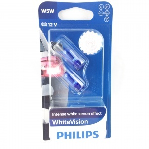 Pack 2 ampoules W5W Philips White Vision