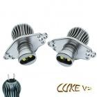 Pack Ampoule LED 25Watts anneaux LUXE V2 angel eyes BMW E90 E91 LCI - Blanc