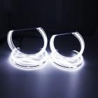 4 Angel eyes cristal LED 3D BMW Serie 3 E46 sans xénon