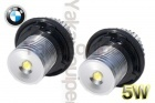 Pack Ampoule LED 5Watts anneaux angel eyes BMW E39 à E87, X3- Blanc xenon