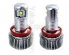 Pack Ampoule LED 10Watts anneaux H8 LUXE angel eyes BMW E63 à E93 X1 X5 X6 - Blanc xenon