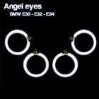Pack 4 Anneaux Angel eyes CCFL BMW E34 Blanc