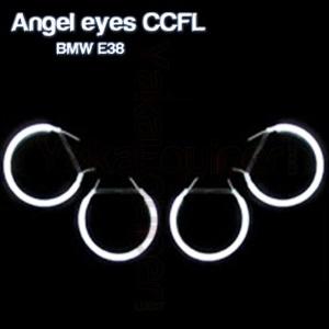 Pack 4 Anneaux Angel eyes CCFL BMW E38 Blanc