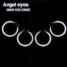 Pack 4 Anneaux Angel eyes CCFL BMW E39 Origine Blanc