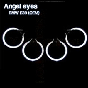 Pack 4 Anneaux Angel eyes CCFL BMW E39 Origine Blanc