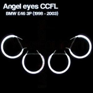 Pack 4 Anneaux Angel eyes CCFL BMW E46 3P < 2003 Blanc