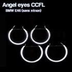 Pack 4 Anneaux Angel eyes CCFL BMW E46 Sans Xenon Blanc