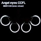 Pack 4 Anneaux Angel eyes CCFL BMW E46 Avec Xenon Blanc