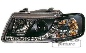 Phares avant Audi A3 8L Devil Eyes LED - Noir