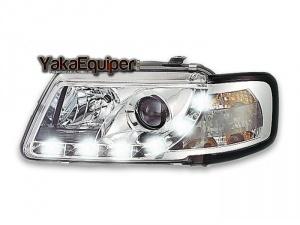 Phares avant Audi A3 8L Devil Eyes LED - Chrome