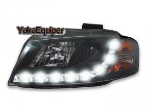 2 Phares avant Audi A3 8P Devil Eyes LED - Noir