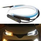 Pack 2 Bandes Flexibles LED 60cm LTI - Feux de jour + Cligno dynamique - Blanc Pur