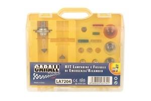 Coffret de remplacement fusibles et ampoules 17pieces