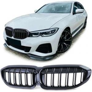 Grilles calandre BMW Serie 3 G20 G21 look m3 - 18-20 - Noir Brillant