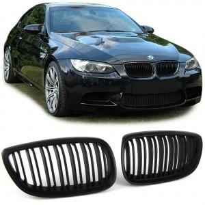 Grilles calandre BMW Serie 3 E92 E93 07-10 - look M3 - Noir mat