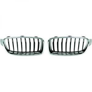Grilles calandre BMW Serie 3 F30 F31 11-15 - Chrome Noir