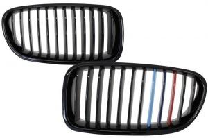 Grilles calandre BMW Serie 5 F10 F11 - Noir Brillant Mpower