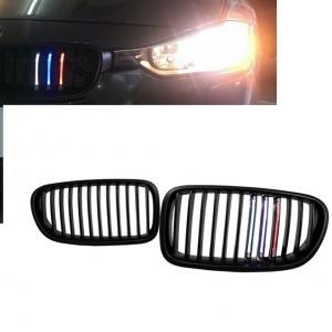 Grilles calandre LED BMW Serie 3 F30 F31 11-15 - Noir Brillant Mpower