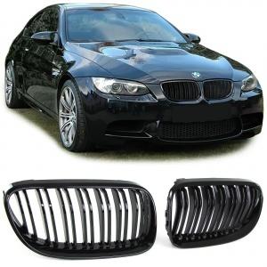 Grilles calandre BMW Serie 3 E92 E93 LCI 10-13- look M3  - Noir Brillant