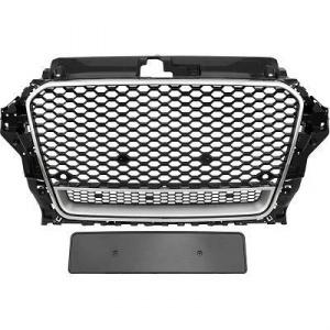 Grille calandre Audi A3 8V - look RS3 quattro - Noir Chrome - PDC