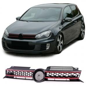 Grille calandre VW Golf 6 (VI) - look GTI - Noir
