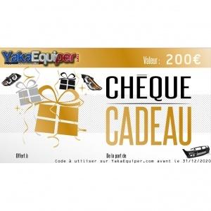 Cheque cadeau noel YakaEquiper.com valeur 200€