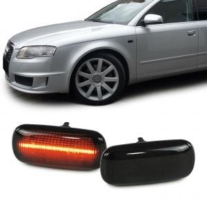 2 Clignotants d'aile LED Audi A3 8P A4 B6 B7 A6 C5 A8 - Noir