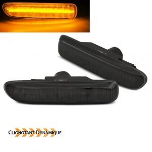Clignotants LED dynamiques BMW Serie 3 E46 Berline compact coupe - Noir fume