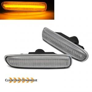 Clignotants LED dynamiques BMW Serie 3 E46 Berline compact coupe - Chrome
