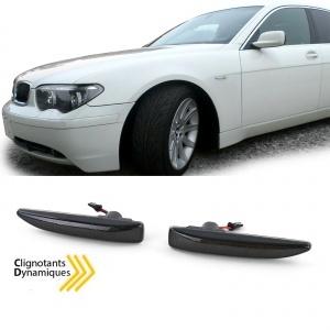Clignotants repetiteurs LED dynamiques BMW Serie 7 E65 E66 E67 - Noir fume
