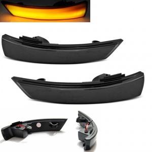 2 Clignotants retro dynamiques LED Ford Focus 08-18 Mondeo 10-14 - Noir