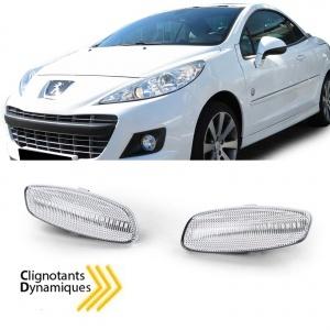 2 Clignotants dynamiques LED pour 207 308 3008 5008 C3 C4 C5 DS3 DS4 - Clair